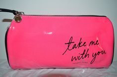 Victoria's Secret Pink Take Me With You Cosmetic Makeup Case Travel Bag~ Sold Out *** For more information, visit now : Travel cosmetic bag