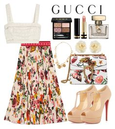 """""""Untitled #121"""" by mydntkrl ❤ liked on Polyvore featuring Gucci, Zimmermann and Christian Louboutin"""