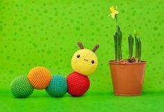 inch worm / caterpillar free crochet pattern