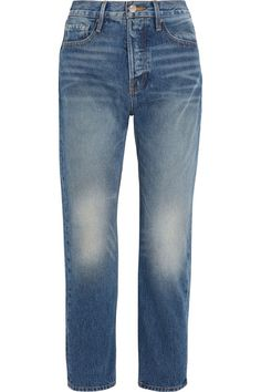 FRAME - Le Original Cropped High-rise Straight-leg Jeans - Blue -