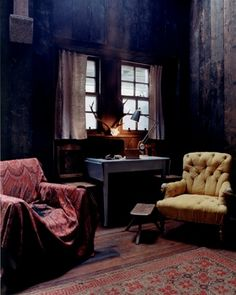 dark sitting room