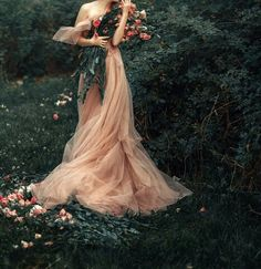 Fantasy art editorial photography female full body haute couture luxury high fashion portrait ginger red head woman in pink dress with a bouquet of roses in a green bustling baroque garden, pastel color photo, picture by Nastas'ya Parshina - Portrait Photography, Fashion Photography, Ethereal Photography, Photography Flowers, Photography Women, Dark Fantasy Photography, Photography Aesthetic, Conceptual Photography, Book Photography