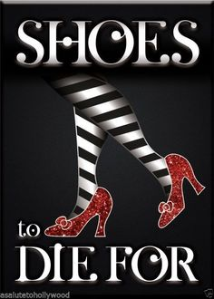 Magnet Shoes to Die for Ruby Slippers of The Wizard of oz Judy Garland Fans | eBay