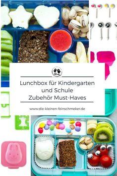 Lunchbox für Kindergarten und Schule- Zubehör Must Haves für die Brotbox. #lunchbox #lunchboxfuerkinder #schulbrot #pausenbrot #gesundelunchbox #gesundesschulbrot #bentobox
