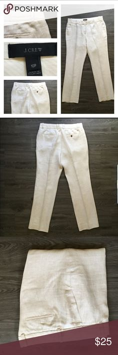 J. Crew Linen Trouser Breezy linen trousers. No obvious signs of wear.                 Waist, 33. Rise, 10.5. Hip, 42. Inseam, 29. J. Crew Pants Trousers