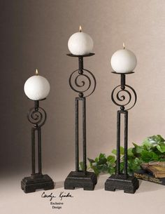 Iron Candle Holder!  visit stonecountyironworks.com for more wrought iron designs!