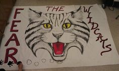 A paper banner for the team to run through!