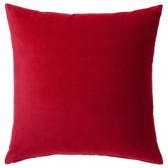 IKEA - SANELA, Cushion cover, red, Cotton velvet gives depth to the color and is soft to the touch. 2 cushions for the sofa