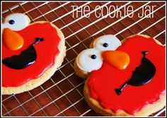 Elmo Decorated Sugar Cookie