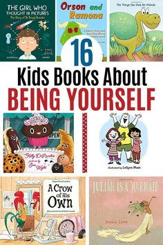 Books about being yourself for kids! Inspire self acceptance with these awesome picture books. Perfect for preschoolers and early elementary kids, these books about acceptance and being yourself are inspiring reads for kids and families. Best Children Books, Toddler Books, Childrens Books, Kid Books, Books For Kids, Story Books, Baby Books, Preschool Books, Book Activities