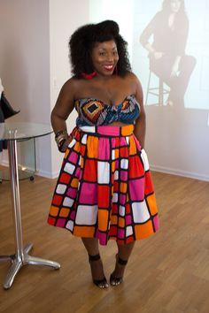 Torrid, Evans, Dorothy Perkins #bandeau #color-blocking #print-skirt #plus-size #fatshion #big-black-girls #curvy #thick #women