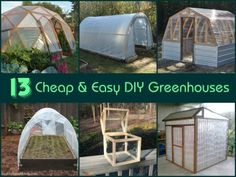 18 DIY greenhouse tutorials and plans. There's a low-cost homemade greenhouse for everyone, from small backyard greenhouses to a 300 square foot greenhouse.