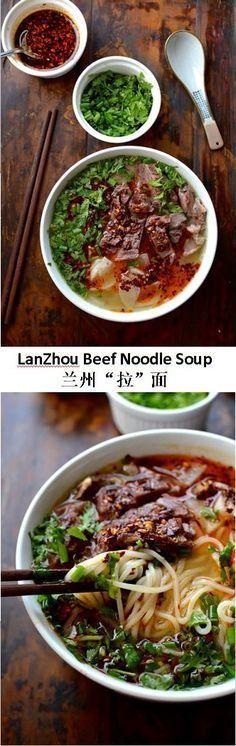 Lanzhou Beef Noodle Soup, 兰州'拉'面