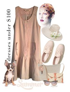 """Summer Dress under $100"" by ragnh-mjos ❤ liked on Polyvore featuring Vanessa Bruno, Hollister Co., Kayu, Gigi Burris Millinery, Michael Kors and Swarovski"