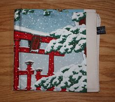 Vintage Asian Themed Four Seasons Silk Scarf: by FelicesFinds