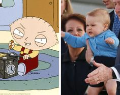 Prince George is basically Stewie Griffin Prince George Meme, Stewie Griffin, William Kate, Family Guy, Anniversary, Celebrities, Memes, Royals, Funny