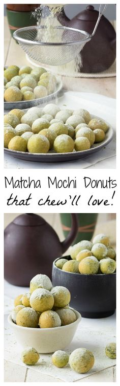 Matcha Mochi Donuts that chew'll love!