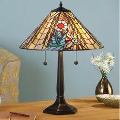 Manhattan Table Lamp by Interiors 1900 An Art Deco design inspired by the fantastic Art Deco facades of Manhattan New York. H:540 W:415 D:415 Bulbs:2 x 60 E27 Fittings:DB054L Shade:T015SH40