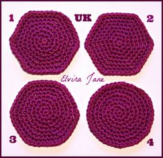 Crocheting In A Continuous Round : Instructions for Double Crochet Stitch in Continuous Rounds UK