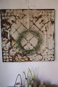 Large Vintage French Tin Ceiling Tile by ArthurandEde on Etsy