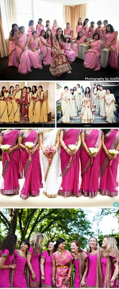 indian-wedding-bridesmaids-ideas - for the color, from kristina