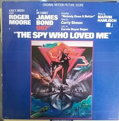 The Spy Who Loved Me, Original Motion Picture Score, Vintage Record Album, Vinyl LP, James Bond, Marvin Hamlisch, Carly Simon, Roger Moore by VintageCoolRecords on Etsy