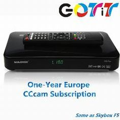 [ 21% OFF ] Gotit Hot Solovox F5 With 1 Year Europe Cccam Subscription Satellite Decoder Dvb-S2 Satellite Receiver