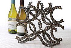 Bicycle Chain Wine Rack