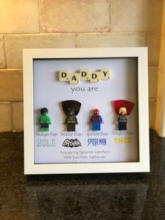Daddy Superhero Frame Personalised Made to Order Including Birthday Quotes Funny For Him, Diy Birthday Gifts For Dad, Diy Gifts For Dad, Diy Father's Day Gifts, Great Father's Day Gifts, Father's Day Diy, Superhero Favors, Batman Gifts, Back To School Gifts