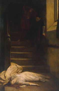 Amy Robsart  - William Frederick Yeames 1877 -many thought he killed her and was Elizabeth's lover but it was cancer that killed her by making her bones brittle-