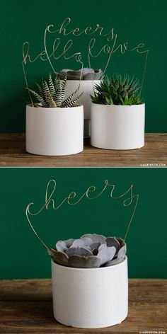 #copperwire #lettering #upcycle #DIY #DIYwedding http://www.LiaGriffith.com