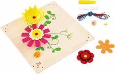 Foster your little one's imagination with this charming craft set that includes numerous supplies for creating whimsical flower artwork. Fun Crafts, Arts And Crafts, Hape Toys, Flower Artwork, Fabric Art, Decoration, Craft Gifts, Plastic Cutting Board, Art For Kids