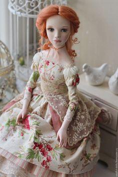 Купить Анна - рыжий, кукла, авторская кукла, коллекционная кукла, Будуарная кукла, подарок девушке