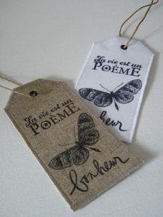 Par un beau matin ... la boutique — Etiquette lin 'La vie est un Poème'