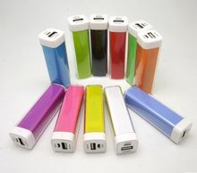 Promotional higher safety 2600 mah colorful power bank for Tablet