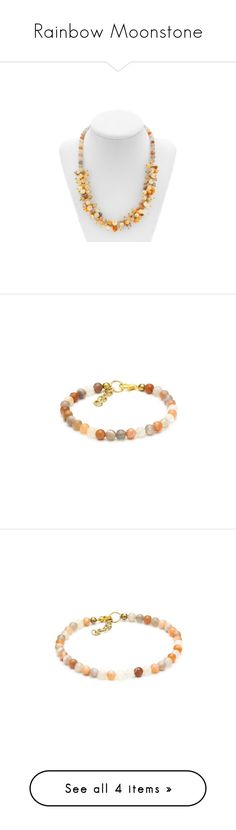"""Rainbow Moonstone"" by mysticalone-com ❤ liked on Polyvore featuring jewelry, necklaces, beaded necklaces, beaded jewelry, beads jewellery, moonstone jewellery, moonstone jewelry, bracelets, beaded bangles and moonstone bangle"