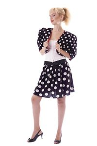 1950s Girl wearing Polka dots dress
