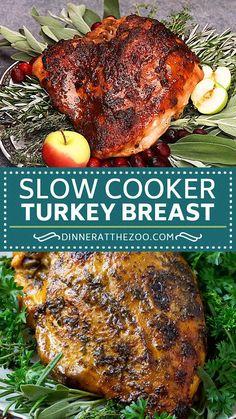 Cheesy Recipes, Baked Chicken Recipes, Turkey Recipes, Easy Healthy Recipes, Dinner Recipes, Slow Cooker Recipes, Crockpot Recipes, Cooking Recipes, Slow Cooker Turkey