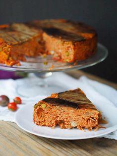 Italian Holiday Table: Eggplant Timballo and Chocolate Chili Polenta and Orange cake