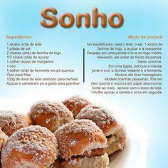 Um Sonho de receita para vocês!  Uma delícia!!! Fique de olho em nossas postagens (;