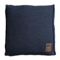 Pillow 50x50 - Uni VZ jeans by Knit Factory www.knitfactory.nl