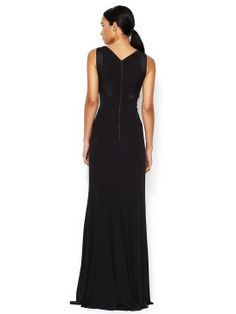 Narciso Rodriguez Seamed Square Neck Gown