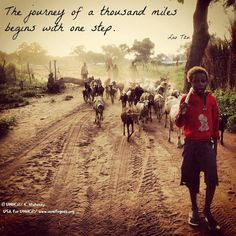 The journey of a thousand miles begins with one step. #quote