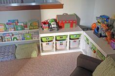 storage ideas for toys Creative Toy Storage, Diy Toy Storage, Ikea Storage, Storage Design, Storage Ideas, Book Storage, Bench Storage, Ikea Playroom, Playroom Storage