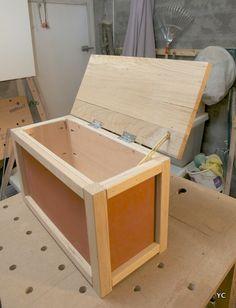 Fabriquer un coffre en bois servant de banc trucs et - Fabriquer un coffre a jouets simple et rapide en bois ...