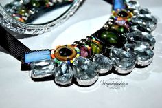 Sparkling necklace, shourouk inspired, embroidery , handmade  https://www.facebook.com/pages/Virgolafashion-passione-homemade/469254379831797?ref=hl necklace beads embroidery fashion style
