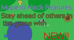 Mope.io Hack Features