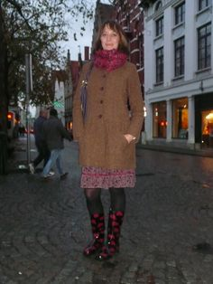 Street Style - Street Fashion Fall/Winter 2014 by lifestyletalks.wordpress.com - Fun boots for rainy days!