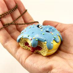 Sweet day everyone 😄💕 Happy donut necklace 🍩😋#donuts #necklace #jewellery #fimojewelry #kawaii #charms #mo_creatures #mosweetfactory #modelina #niezchinzpasji #fimo #ooak #clay #handmade #handmadejewelry #art #wip #polymerclay #sculpey #cute #miniature #creepycute #etsy #sweet #sculpture #creature #originalart #ooakdoll #artdoll #foodcreatureart