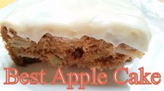 APPLE CAKE & VIDEO~This really is the best apple cake. The kind of cake that you want to sneak nibbles from and know your diet is doomed if you keep it in the house, especially since your kids are at college and not home to save you from yourself. Best Apple Desserts, Apple Recipes, Easy Desserts, Delicious Desserts, Dessert Recipes, Cupcake Recipes, Sweet Recipes, Cinnamon Recipes, Simply Recipes